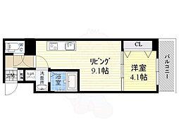 S-RESIDENCE江坂Eminence 8階1LDKの間取り