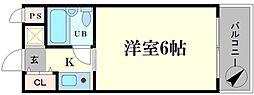 ビバリーヒルズ本田西[4階]の間取り
