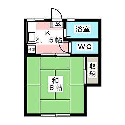 宮城アパートA[1階]の間取り