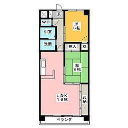 サンライズ伊東 弐番館[5階]の間取り