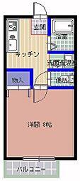 マテリアルハウス A棟[106号室]の間取り