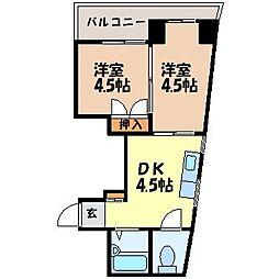 長崎県長崎市浜口町の賃貸マンションの間取り