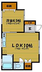 地曳ハウス[1階]の間取り