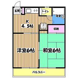 東京都調布市深大寺北町6丁目の賃貸アパートの間取り