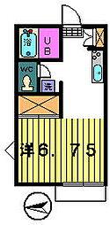 プチハウス[2−A号室]の間取り