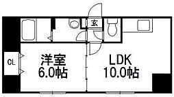 ラポート二十四軒[4階]の間取り