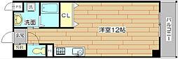 大阪府高槻市大畑町の賃貸マンションの間取り