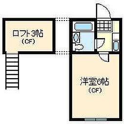 ネストリバーサイドKITAGAWA[2階]の間取り