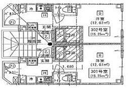 新築 シックス新宿(賃料下がりました)[102号室号室]の間取り