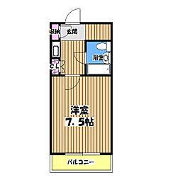 第13宮田ビル[4階]の間取り