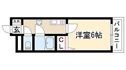 ルート香南マンション[301号室]の間取り