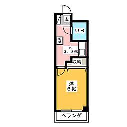 川村ハイツ[3階]の間取り