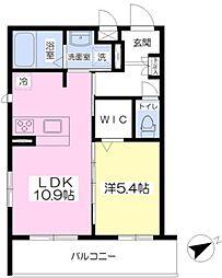 シャーメゾンSAKURA 3階1LDKの間取り