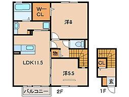 アズーロ寿[2階]の間取り