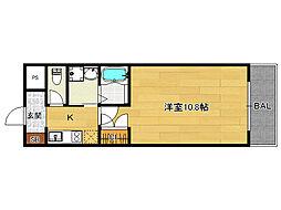 ラフェスタ天神川[306号室]の間取り