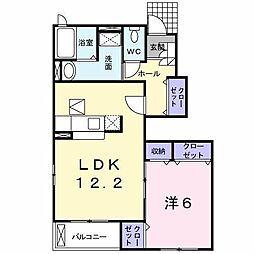 クレメントA棟[1階]の間取り