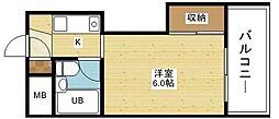 メゾン土井エリート[4階]の間取り