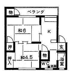 布引マンション[2-6号室]の間取り