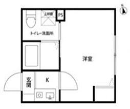 西武池袋線 桜台駅 徒歩6分の賃貸アパート 2階1Kの間取り