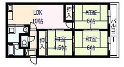エコーハイツ II[4階]の間取り
