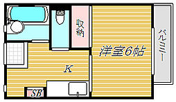 東京都葛飾区青戸3丁目の賃貸アパートの間取り