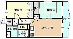 和歌山県和歌山市松江東3丁目の賃貸マンションの間取り