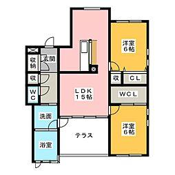 コートブラン[3階]の間取り