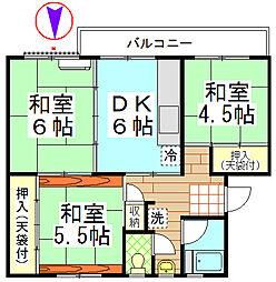幸町団地[5階]の間取り