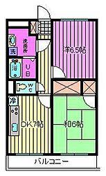 埼玉県さいたま市南区大谷口の賃貸マンションの間取り
