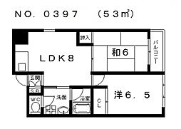 土井デンティストビル[4階]の間取り