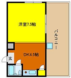 オードリー枚岡B[4階]の間取り