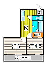 31パートII[3階]の間取り