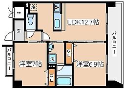 兵庫県神戸市兵庫区入江通2丁目の賃貸マンションの間取り