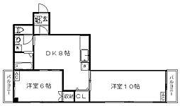 東京都練馬区関町北2丁目の賃貸マンションの間取り