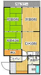 川元ハイツ[2階]の間取り