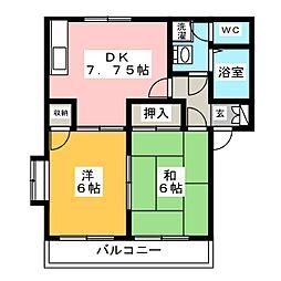 コンフレールひらい[2階]の間取り