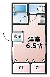 竹内ハイツ[1階]の間取り