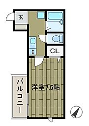 イリマコート[1階]の間取り