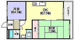 ローズコーポ[3階]の間取り