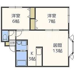 モデュロールN483−III[3階]の間取り