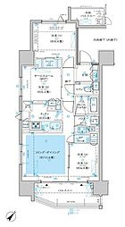 ディームス渋谷本町 11階3LDKの間取り