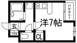 兵庫県宝塚市小林1丁目の賃貸マンションの間取り