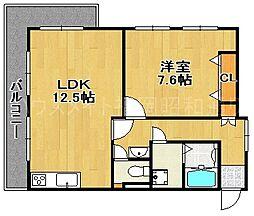 シャトレ大濠[2階]の間取り