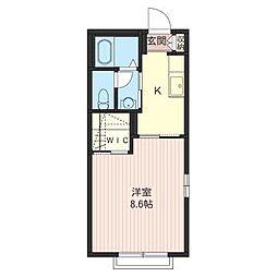 メルベーユKY・2[2階]の間取り