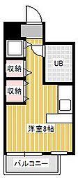 ジュネパレス新松戸第16[6階]の間取り