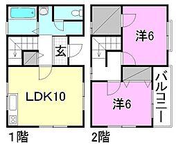 [テラスハウス] 愛媛県松山市南斎院町 の賃貸【/】の間取り