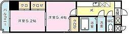 雅Senbou[203号室]の間取り