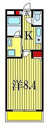 グリーンファームII[1階]の間取り