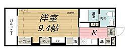 千葉県千葉市中央区亥鼻1丁目の賃貸アパートの間取り