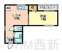 福岡県福岡市城南区別府6丁目の賃貸マンションの間取り
